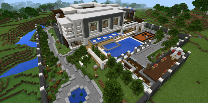 Modern Mansion Minecraft Pocket Edition Maps Mods