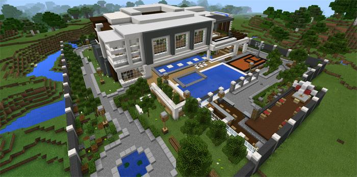 Modern Mansion Minecraft Pocket Edition Maps Mods