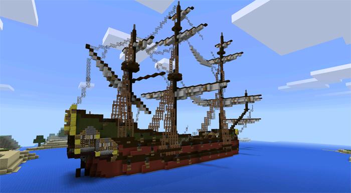 18th Century Ships Minecraft Pocket Edition Maps Mods