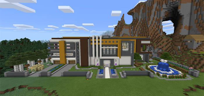 Super Mansion Minecraft Pocket Edition Maps Amp Mods