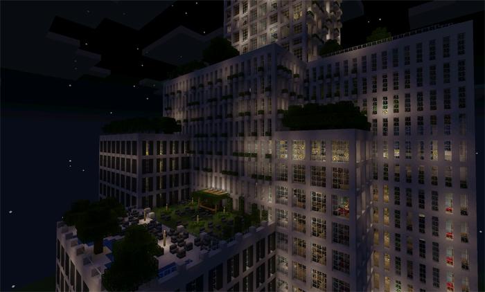 Modern Hotel Minecraft Pocket Edition Maps Mods