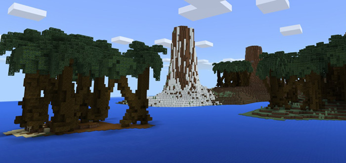 Survival minecraft pocket edition maps mods this is a custom terrain which has been built to be used as a survival world youll spawn on a medium sized island and surrounding the main island are a gumiabroncs Gallery